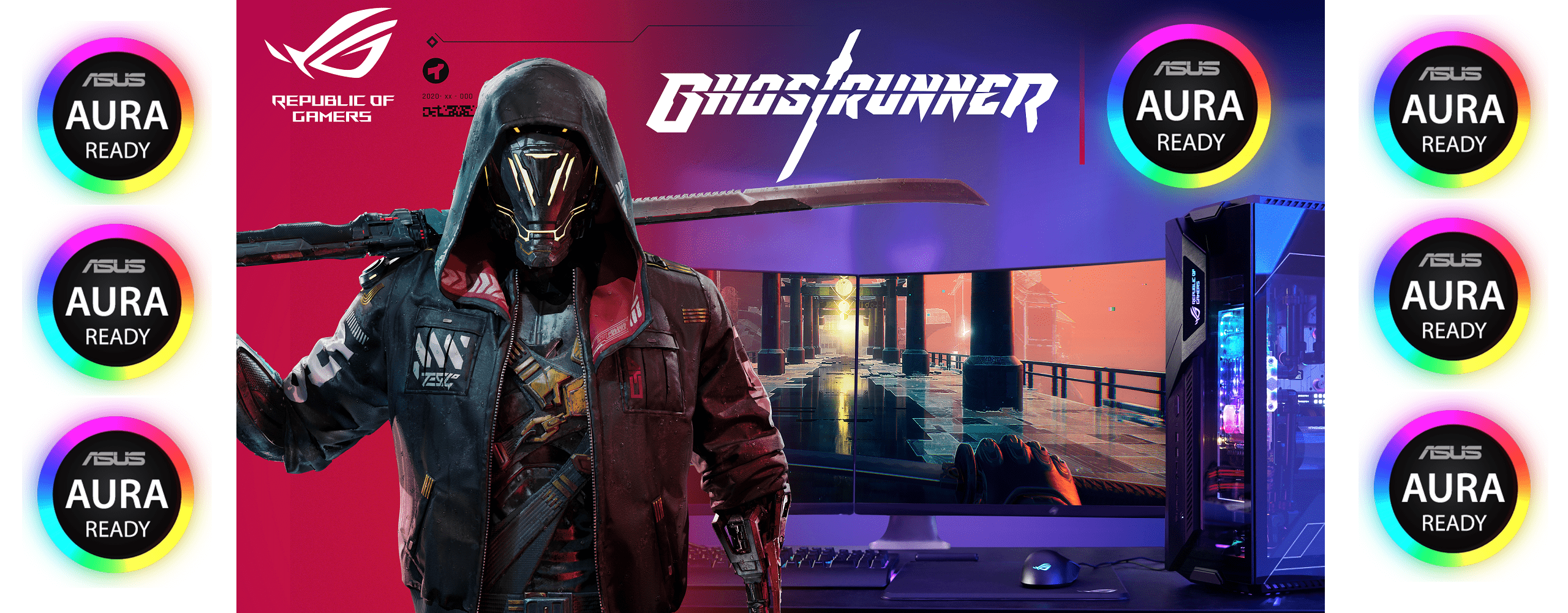 ASUS ROG X Ghostrunner Featuring AURA Ready